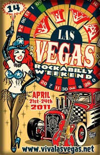poster for Viva Las Vegas Rockabilly Weekend April 21 - 24, 2011